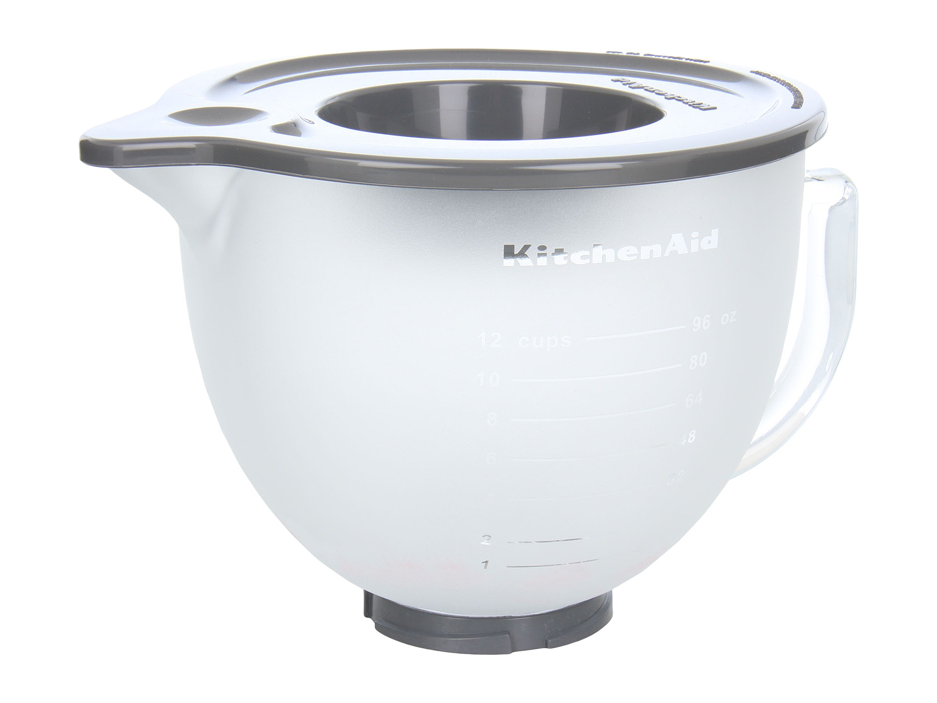 Kitchenaid 5 Qt Frosted Glass Bowl With Pouring Spout Lid Shipped Free At Zappos