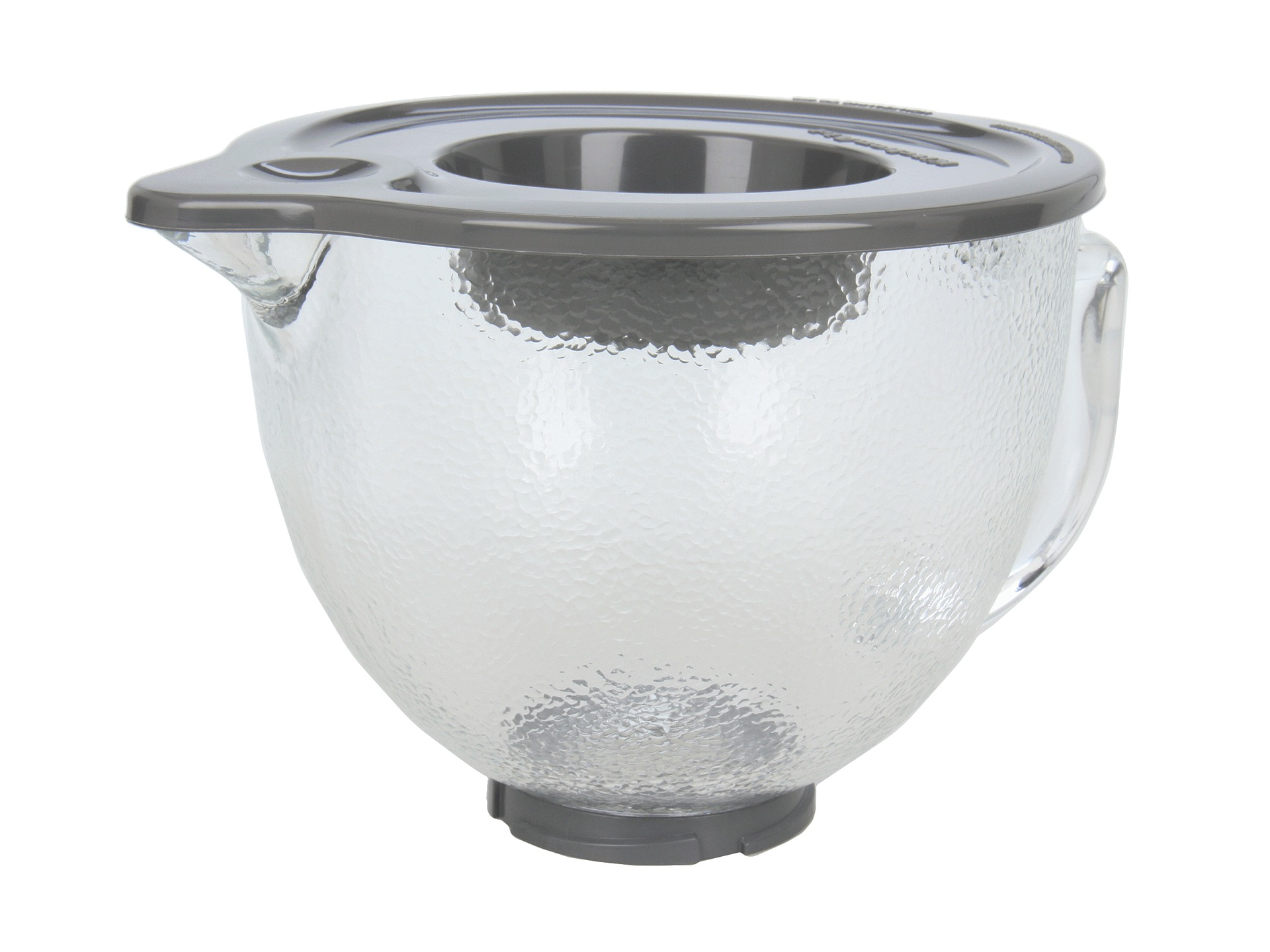 Kitchenaid 5 Qt Hammered Glass Bowl With Pouring Spout Lid Shipped Free At Zappos