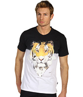 Just Cavalli - Tiger Print V-Neck Tee