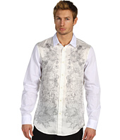 Just Cavalli - White Baroque Print Button Up