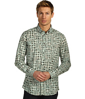 Just Cavalli - Vichy Puzzle Print Cotton Poplin Button Up
