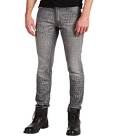 Just Cavalli - Rinse and Laser Croc Slim Fit Jean