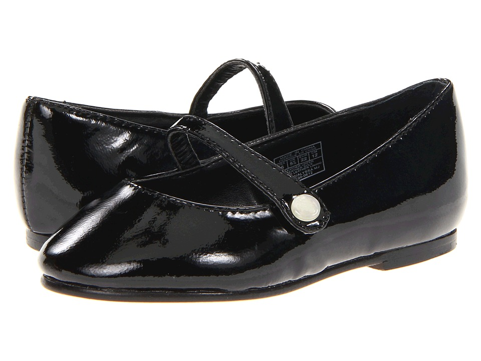 Polo Ralph Lauren Kids Alyssa MJ Toddler Black Patent Girls Shoes