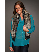 dollhouse - Zip Front Bomber Faux Fur Vest