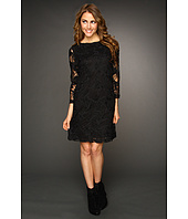 Nicole Miller - Floral Mesh Long Sleeve Dress
