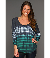 C&C California - Tri-Blend Ombre Stripe Shirttail Tee