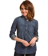 Calvin Klein Jeans Petite - Petite Fitted Denim Shirt in Medium Wash