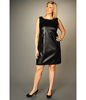 DKNYC - Plus Size Sleeveless Dress w/ Faux Leather
