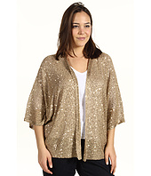 DKNYC - Plus Size Open Front Sequin Shrug