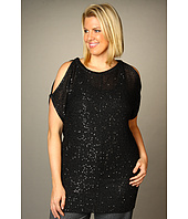 DKNYC - Plus Size Cold Shoulder Sequin Tunic