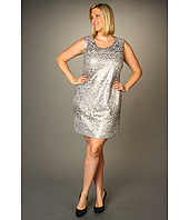 DKNYC - Plus Size S/L Allover Sequin Dress