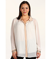 DKNYC - Plus Size L/S Peter Pan Collar Tunic