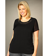 DKNYC - Plus Size S/S Embellished Top