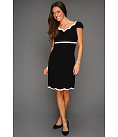 Tahari by ASL - Eileen Scalloped Dress w/Cap Sleeves