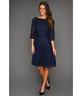 Tahari by ASL - Suzanne Lace Dress w/Grosgrain Belt