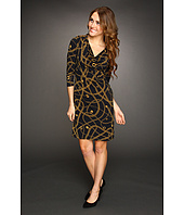 MICHAEL Michael Kors Petite - Hamilton 3/4 Sleeve Chain Shoulder Dress