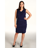 DKNYC - Plus Size Sleeveless Dress w/ Draping