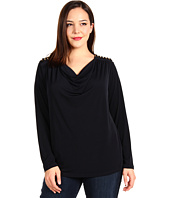 MICHAEL Michael Kors Plus - Long-Sleeve Chain Shoulder Top