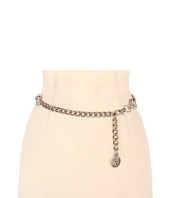 Anne Klein - Anne Klein Chain Belt w/ Open Lion Head Disc