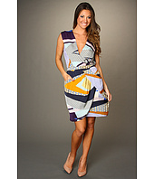 Donna Morgan - Torey Mock Wrap Top Side Drape Dress