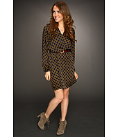 MICHAEL Michael Kors - Chain Link Long Sleeve Wrap Dress