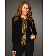 MICHAEL Michael Kors - L/S Chain Placket Cardigan