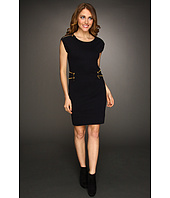 MICHAEL Michael Kors - Cap Sleeve Zip Sweater Dress