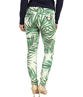 MICHAEL Michael Kors Petite - Petite Tropical Palm Skinny Jean in Kelly Green