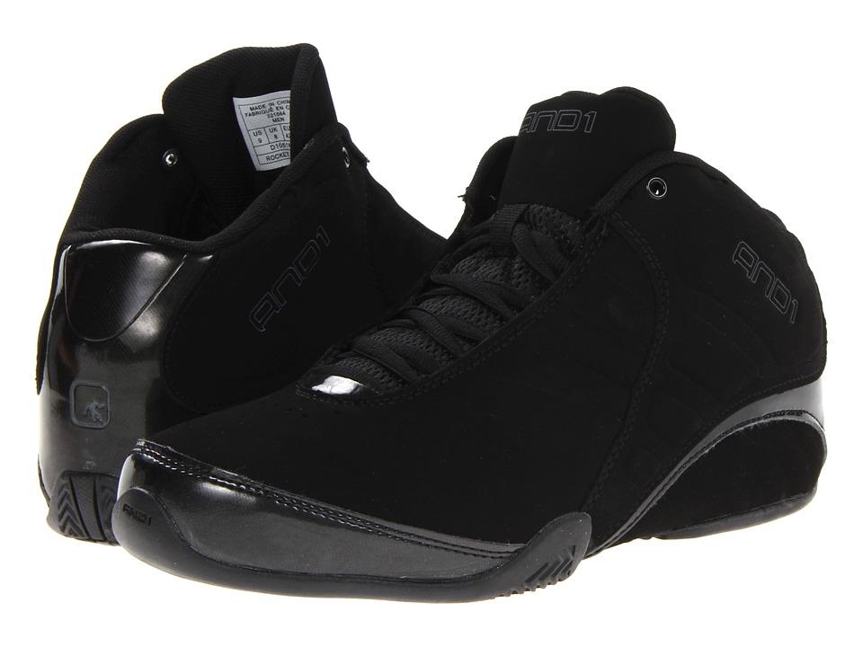 AND1 Rocket 3.0 Mid Black/Black Mens Basketball Shoes