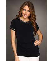 MICHAEL Michael Kors - Short Sleeve Stud Trim Top