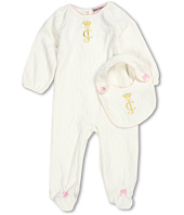 Juicy Couture Kids - Footie w/ Bib (Infant)