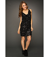 DKNY Jeans - Sequin Fringe Cowl Neck Dress