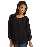 DKNY Jeans - Clip Dot Smocked Sleeve Blouse