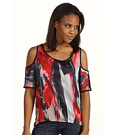 DKNY Jeans - Oil Painting Print Cold Shoulder Top