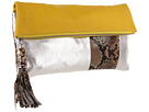 Rafe New York - Anh Fold over Clutch (Lemon/Silver)