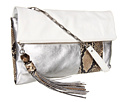Rafe New York - Anh Fold over Clutch (White/Silver)