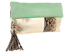Rafe New York - Anh Fold over Clutch (Mint/Gold)