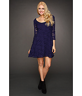 Free People - Three-Quarter Sleeve Lace Dress