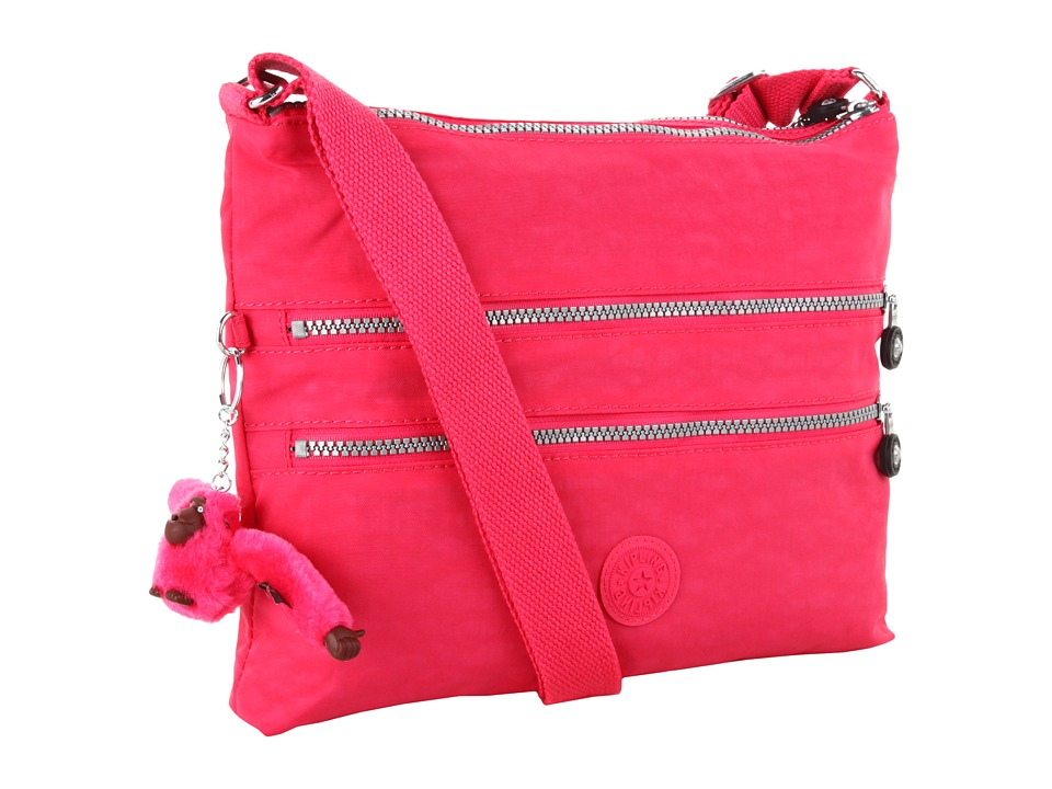 Kipling - Alvar Crossbody Bag (Vibrant Pink) Cross Body Handbags