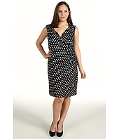 MICHAEL Michael Kors Plus - Plus Size Pan Dot Sweetheart Neck Dress