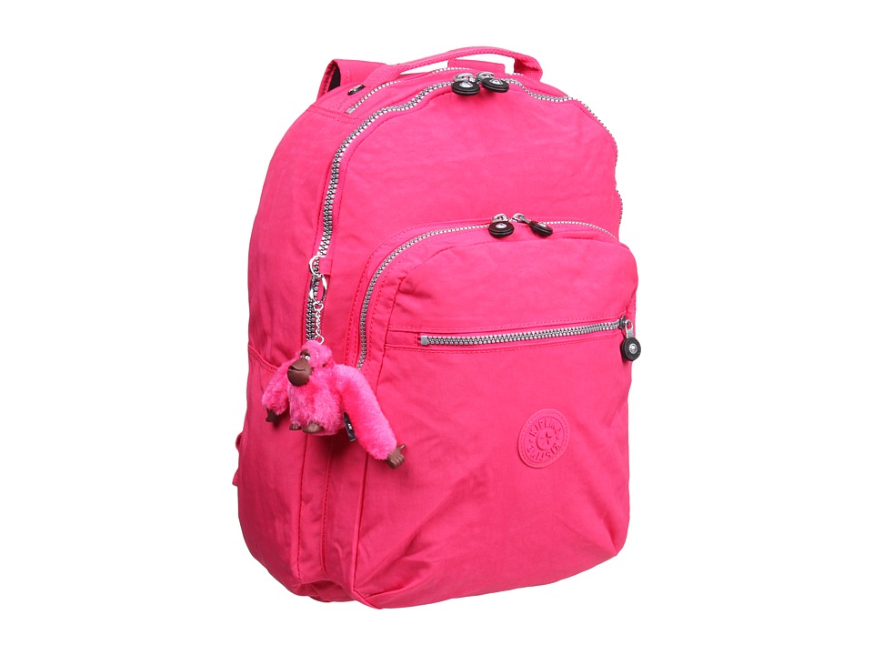 Kipling - Seoul Backpack with Laptop Protection (Vibrant Pink) Backpack Bags
