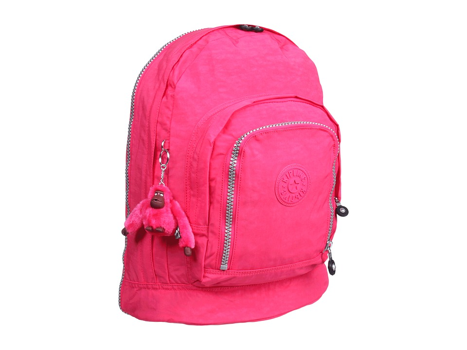 Kipling - Hiker Expandable Backpack (Vibrant Pink) Backpack Bags