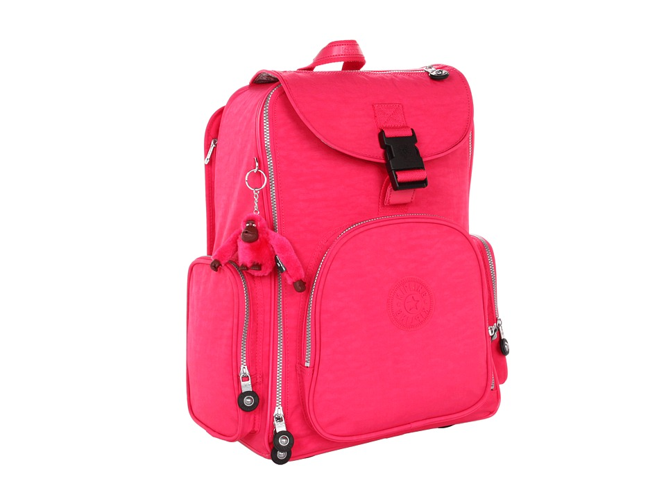 Kipling Alcatraz II Backpack With Laptop Protection Vibrent Pink Backpack Bags