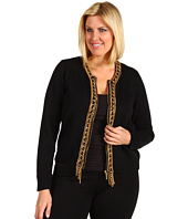 MICHAEL Michael Kors Plus - Plus Size L/S Chain Placket Cardigan