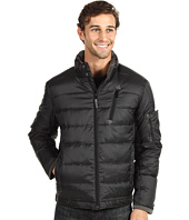 Rainforest - Quilted Windowpane Stand Collar Quilted Down Bomber