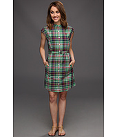 Fred Perry - Grandad Collar Madras Shirtdress