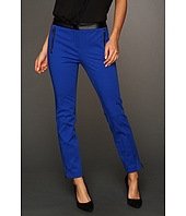 DKNYC - Skinny Ankle Pant w/ Faux Leather Waist & Pockets