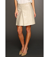 DKNYC - Leather Pleat Front Miniskirt