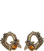 Alexander McQueen - Hexagon & Bee Skull Earrings
