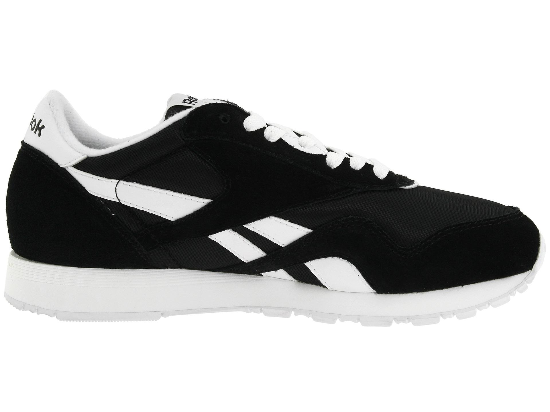 reebok lifestyle classic nylon w femme blanc noir sneakers